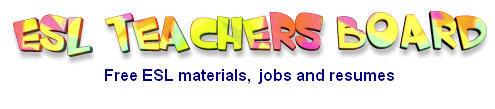 ESL jobs worldwide, ESL resumes and ESL materials.